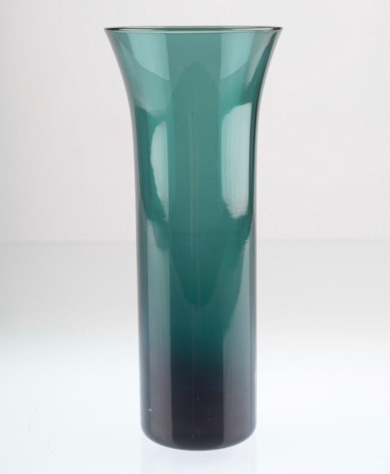19 cm vintage zwiesel glas vase turmalin petrol 60er jahre u1u ebay. Black Bedroom Furniture Sets. Home Design Ideas