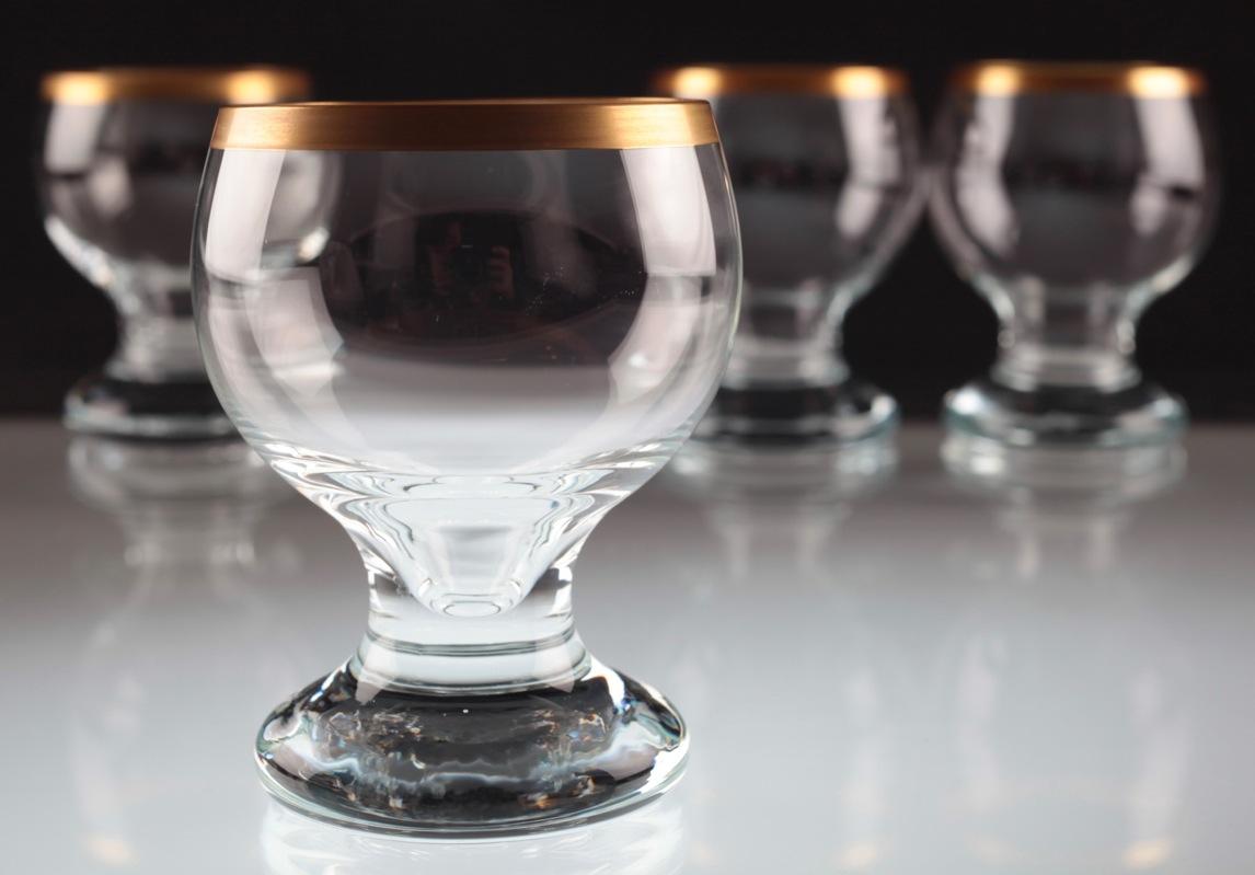 4 ingrid glas weingl ser goldrand weinglas rotweingl ser wei weingl ser gl ser ebay. Black Bedroom Furniture Sets. Home Design Ideas