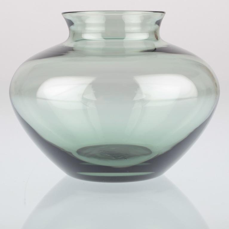 kleine vintage wagenfeld herzvase glas vase turmalin grau. Black Bedroom Furniture Sets. Home Design Ideas
