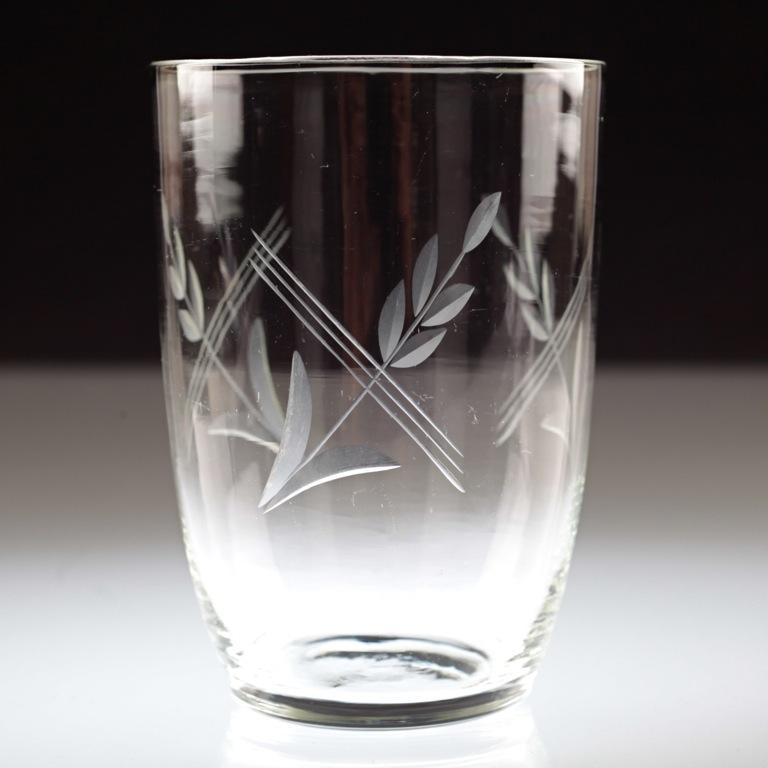 1 vintage becher glas wasserglas saftglas schliff gravur glas k68 ebay. Black Bedroom Furniture Sets. Home Design Ideas