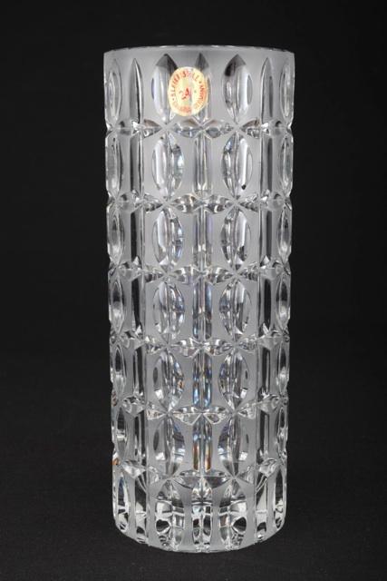 Vintage 24 bleikristall vase glasvase bavaria germany 19 - Glasvase vintage ...
