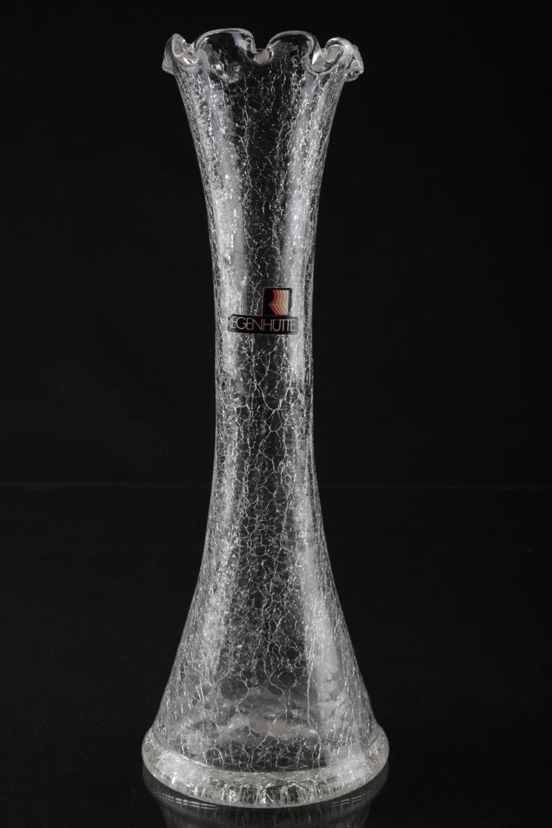 Vintage 60er krakelee krakl craquel glas vase glasvase - Glasvase vintage ...