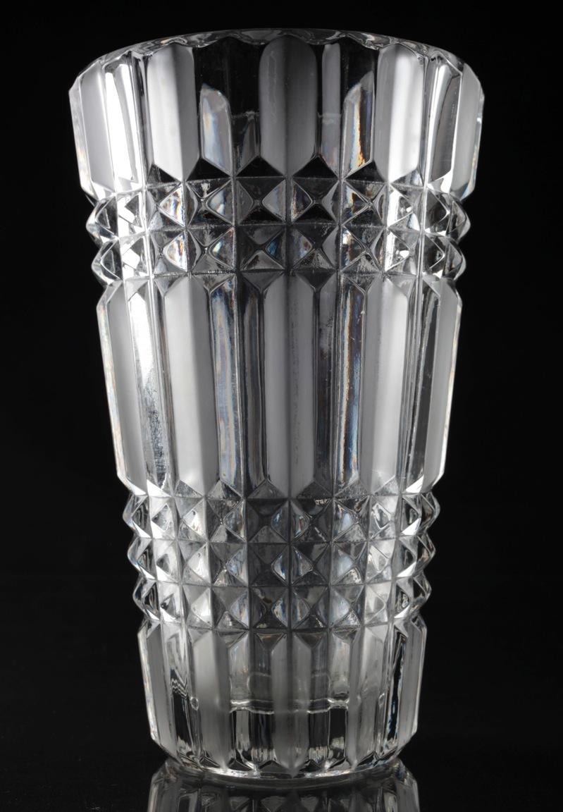 vintage glas vase tulpenvase kristall kristallvase 20 cm. Black Bedroom Furniture Sets. Home Design Ideas