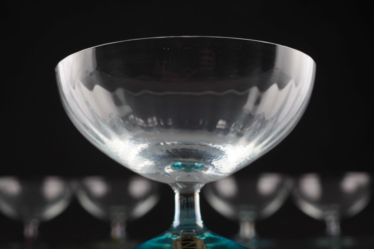 5 vintage glas schalen zwiesel sektschalen. Black Bedroom Furniture Sets. Home Design Ideas