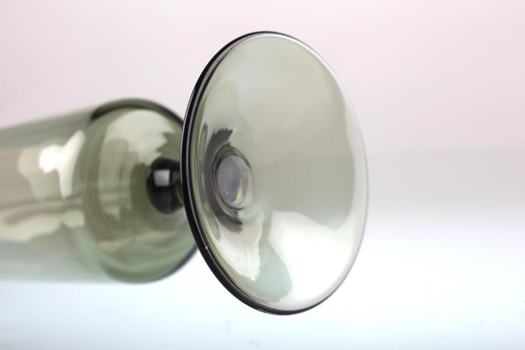 vintage glasvase fu vase grau zylinder vase glas 50er 60er. Black Bedroom Furniture Sets. Home Design Ideas