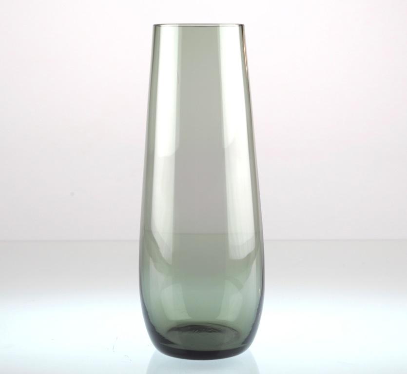 vintage glasvase grau 23 cm gro glas vase 50er 60er rauchglas u1u ebay. Black Bedroom Furniture Sets. Home Design Ideas