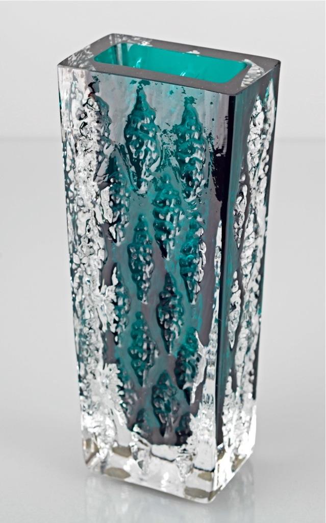vintage ingridglas blockvase vase ingrid glas petrol gr n. Black Bedroom Furniture Sets. Home Design Ideas