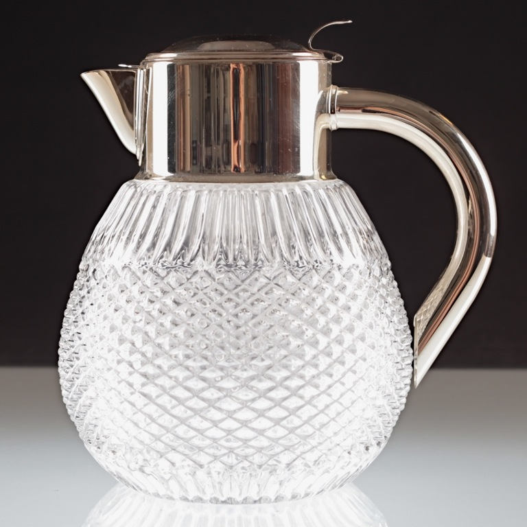 vintage kalte ente krug kanne karaffe kristall glas 3 liter 2 4 kg glaskrug h2d ebay. Black Bedroom Furniture Sets. Home Design Ideas