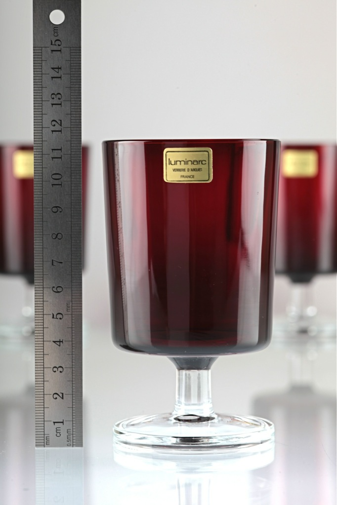 Luminarc verrerie d'arques rubi vintage