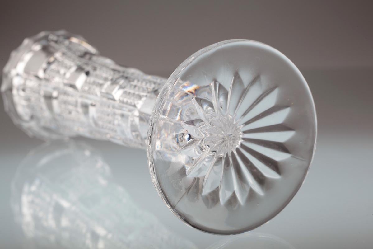 Vintage Bleikristall Kristall Schale Oval Obstschale Ca