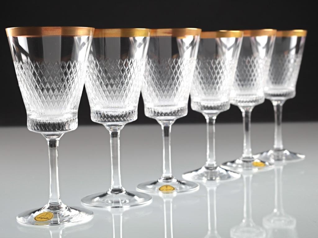 6 vintage spiegelau helios kristall gl ser weingl ser. Black Bedroom Furniture Sets. Home Design Ideas