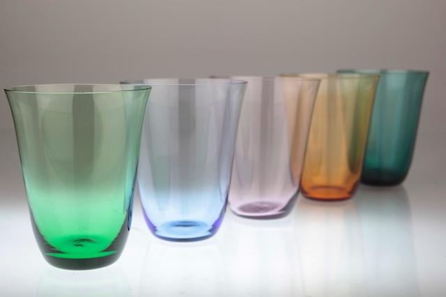 5 vintage trinkgl ser gl ser bunt buntglas farbglas zart glas wohl 50er jahre ebay. Black Bedroom Furniture Sets. Home Design Ideas