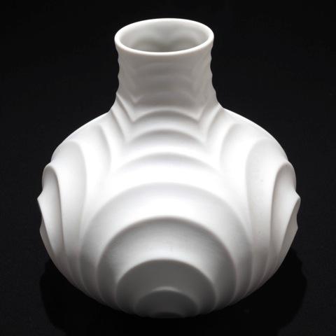 vintage vase wei heinrich porzellankultur wei e porzellan relief vase 2034 ebay