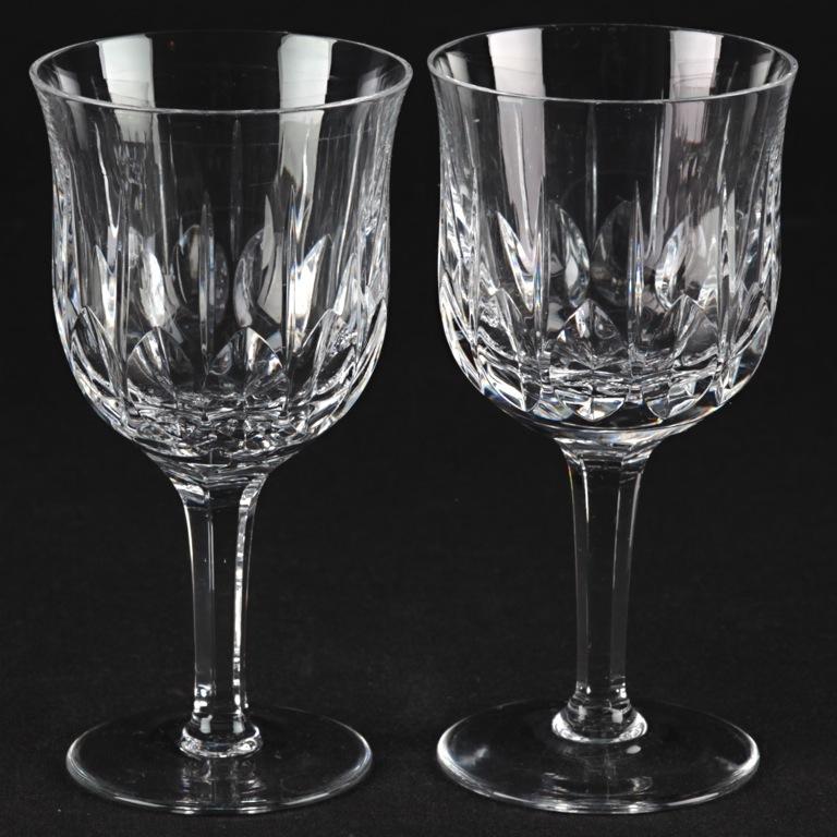 2 vintage weingl ser kristall gl ser schliff tulpen kelch form w7b ebay. Black Bedroom Furniture Sets. Home Design Ideas