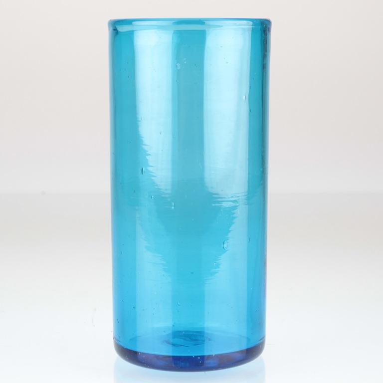 vintage zylinder glas vase glasvase t rkis luftblasen. Black Bedroom Furniture Sets. Home Design Ideas