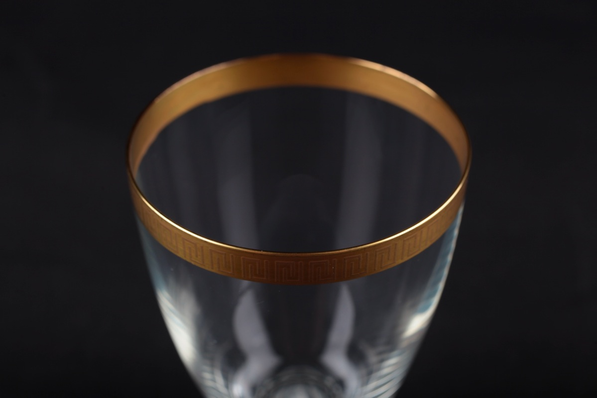 weinglas schott zwiesel kristallglas naab goldrand heinrich l ffelhardt 60er k41 ebay. Black Bedroom Furniture Sets. Home Design Ideas
