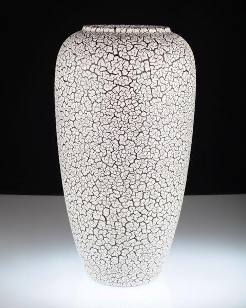 xl bodenvase jasba 585 40 cortina schrumpfglasur schwarz wei 50er 60er vase ebay. Black Bedroom Furniture Sets. Home Design Ideas